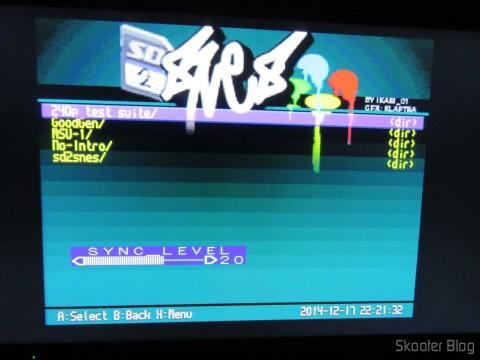 Tela do SD2SNES no Super Nintendo via Framemeister XRGB Mini