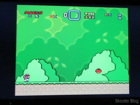 Super Mario World no Super Nintendo via Framemeister XRGB Mini
