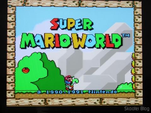Cabo SCART RGB do Super Nintendo (CSYNC)com upgrade para Cabo com múltiplos núcleos de mini coaxial, em funcionamento