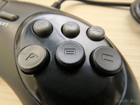 "Os 6 botões do Genesis ""GN6"" Controller (Hyperkin)"