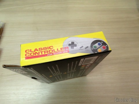 Wired Classic Controller for Super Nintendo SNES and Retro-Tech Duo TX on its packaging