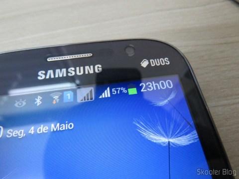 Replacement 3.8V 2850mAh Dual Cells Battery for Samsung Galaxy Grand / i9080 / i9082 – Golden instalada no Samsung Galaxy Grand Duos
