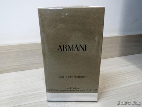 Armani 3.4 oz (100ml) EDT Spray em sua embalagem