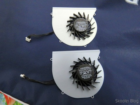 The Cooling Fan for Dell Latitude E6220 - Forcecon DFS400805L10T FAA6 old faulty and the new