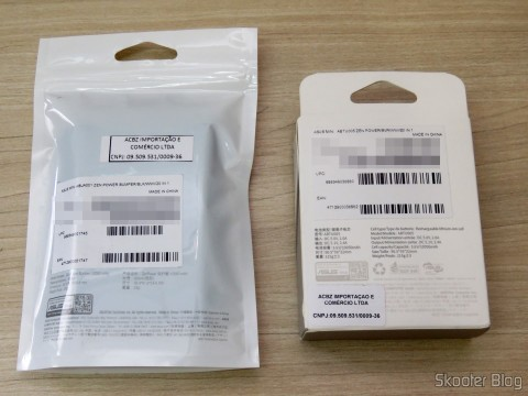 ASUS ZenPower 10050 mAh e Bumper, in their packaging
