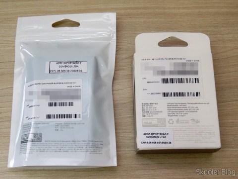 ASUS ZenPower 10050 mAh e Bumper, in their packaging