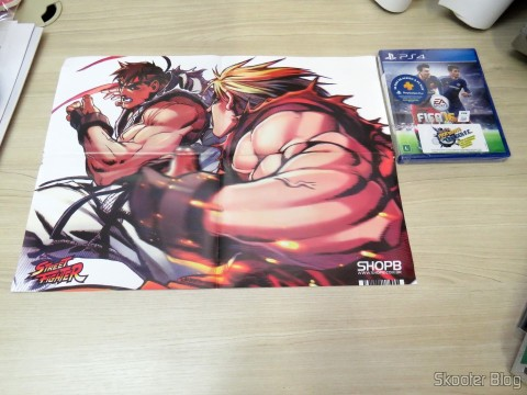 Poster Street Fighter came as a gift following the Fifa 16 (PS4)