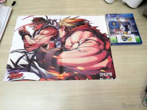 Pôster do Street Fighter veio como brinde acompanhando o Fifa 16 (PS4)