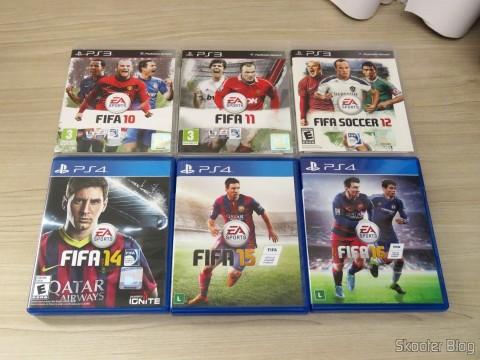 Fifa 10, 11, e 12 (PS3) e Fifa 14, 15, e 16 (PS4)