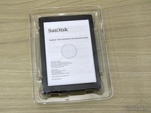 Sandisk Extreme PRO de 240GB e sua embalagem