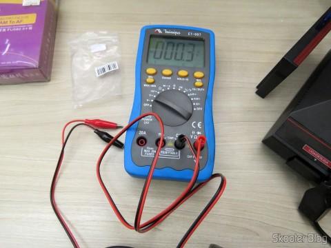 Cabo para Multímetro com Plug Banana e Garra Jacaré no Multímetro Digital Minipa ET-997 com LCD de 3.0″,