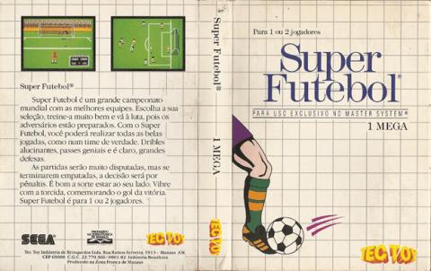 Encarte do Super Futebol - Master System