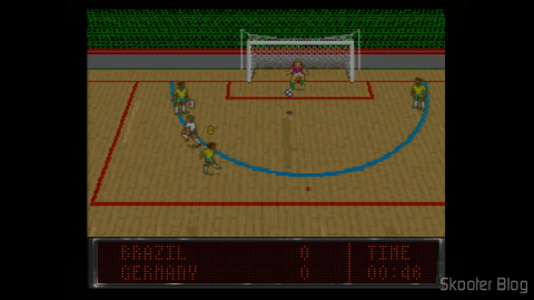 Indoor Soccer in the World Soccer 94 - Road to Glory