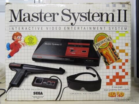 Caixa do Master System II da Tec Toy - Promoção Jogos de Verão