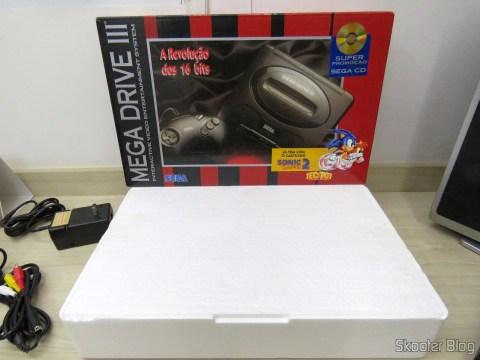 Caixa e Isopor do Mega Drive III da Tec Toy