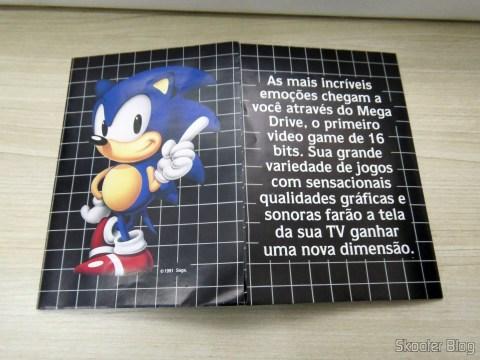 Folheto de Jogos que acompanhava o Mega Drive III da Tec Toy