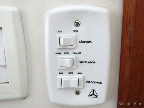 Chave Capacitiva para Ventilador de Teto da marca Delta, após a instalação