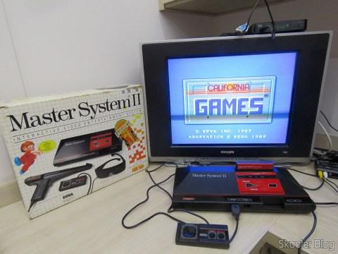 Master System II, com o Jogos de Verão (California Games) que o acompanha