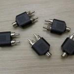 5 Splitters RCA 1 Fêmea para 2 Machos