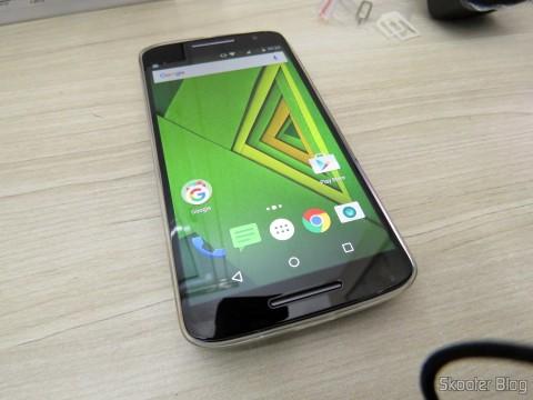 Motorola Moto X Play funcionando com o meu Chip Vivo cortado para Nano SIM