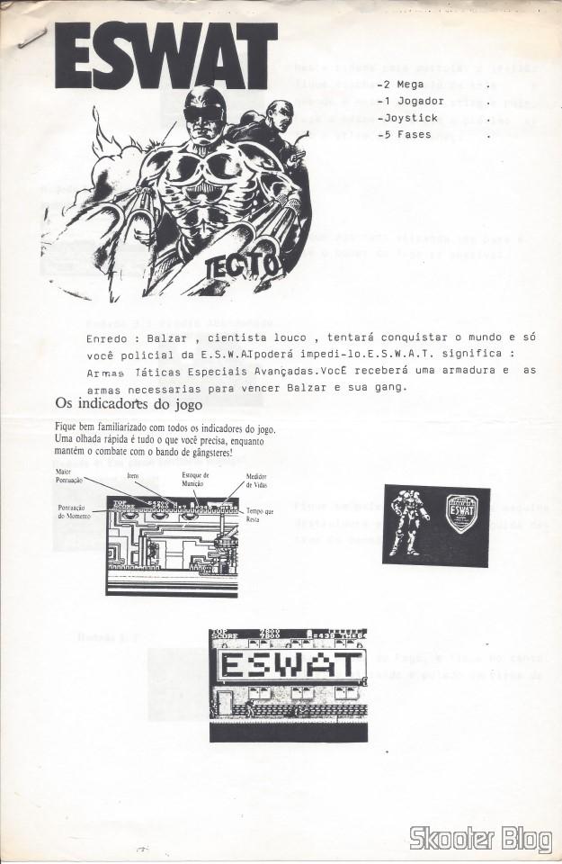 Dicas da Tec Toy - ESWAT - Master System - Página 1