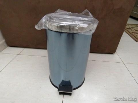 Lixeira de Inox com Pedal e Balde Removível 12 Litros Tramontina