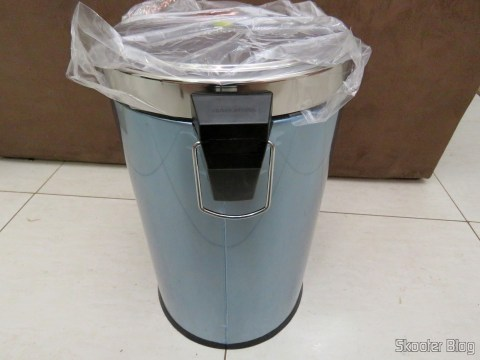 Stainless Recycle Bin with Pedal and Removable Bucket 12 Tramontina liters