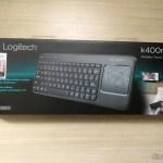 Teclado sem Fio Com Mouse Touch K400R Logitech, em sua embalagem