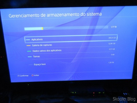 Playstation 4 com o HD Samsung Spinpoint ST2000LM003 2TB instalado