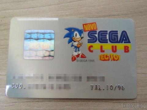 Cartão do Novo Sega Club da Tec Toy
