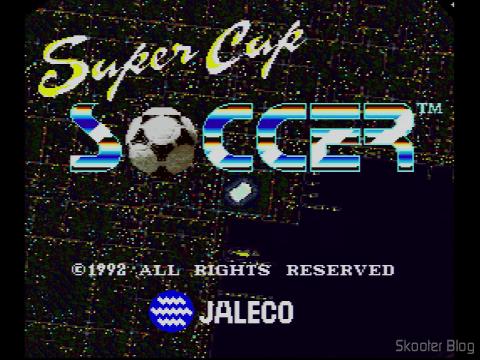 Super Cup Soccer - A tela de título