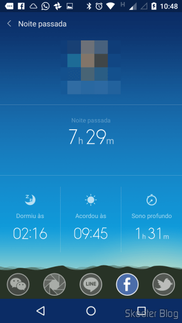 Sleep data can be shared in WeChat, Google , Line, Facebook, and Twitter via Mi Fit