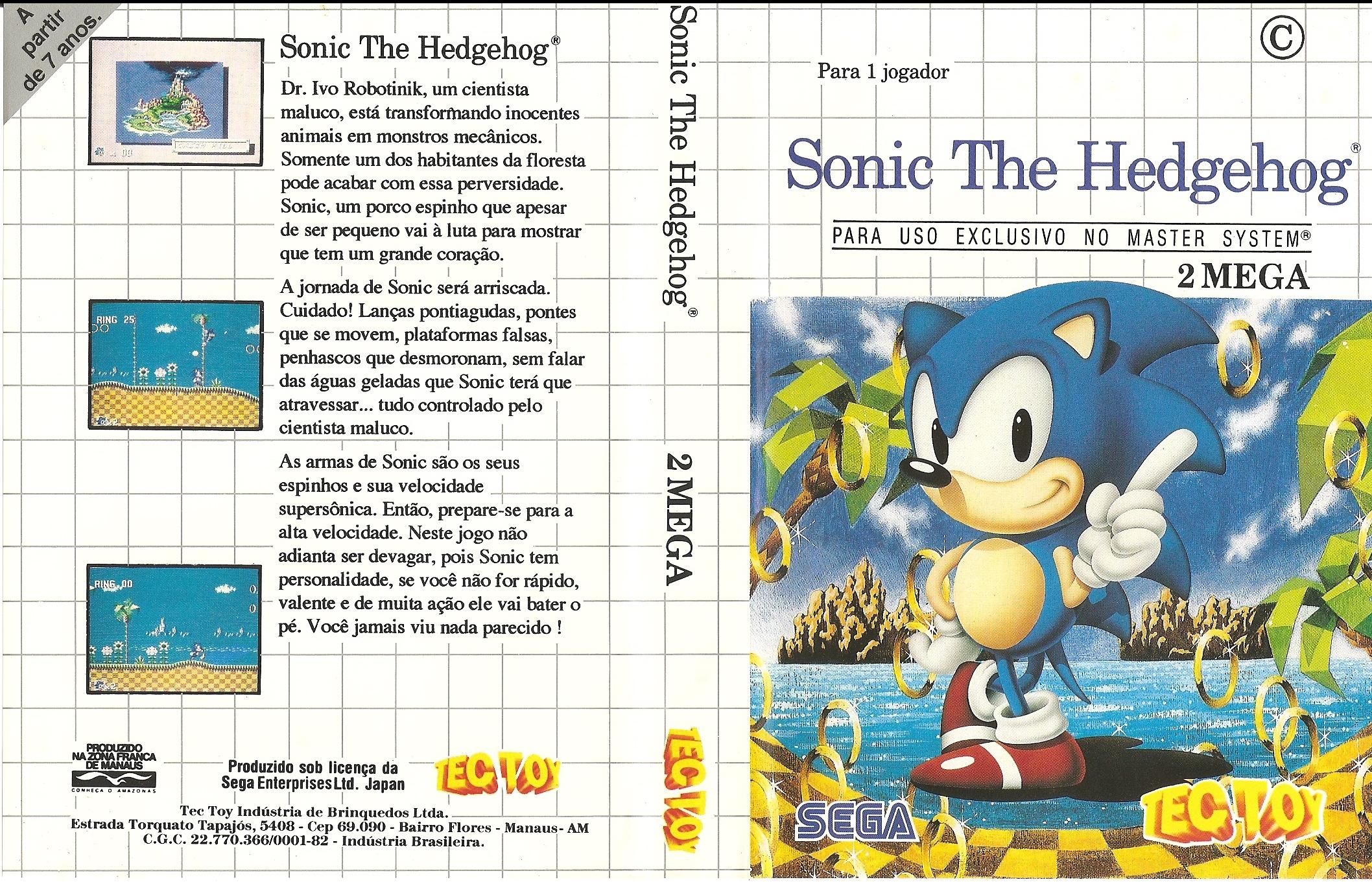 Sonic The Hedgehog Sega Master System Tec Toy Tips Skooter Blog
