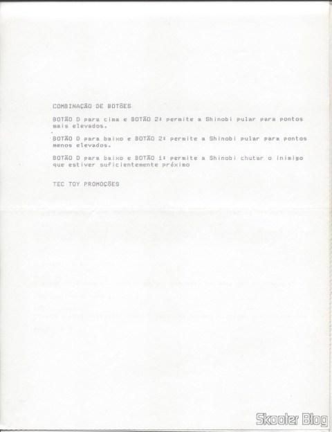 Dicas Tec Toy - Shinobi - Master System - Página 2