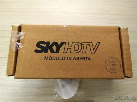 Módulo de TV Aberta Sky HDTV SIM25 (S-IM25-700) em sua embalagem