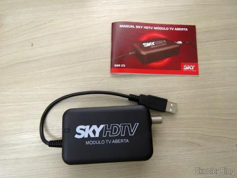 Módulo de TV Aberta Sky HDTV SIM25 (S-IM25-700) e manual de instruções