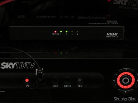 SHR23 Sky receiver and HDMI Splitter
