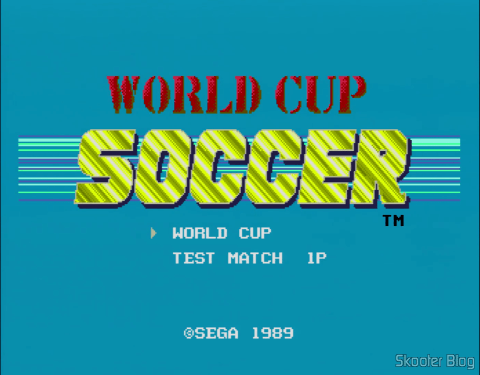In Japanese consoles, the name of the game is World Cup Soccer