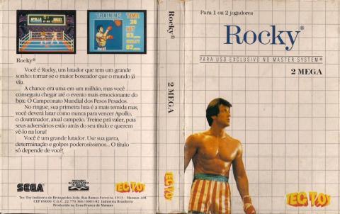 Capa da Tec Toy para o Rocky - Master System