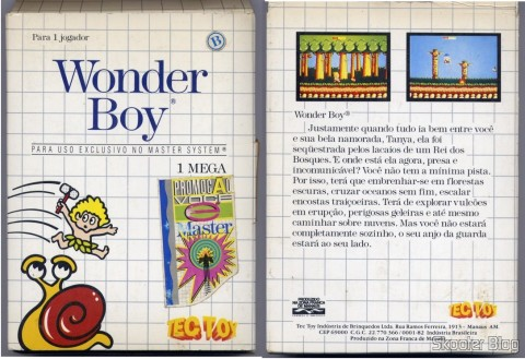 Capa da Tec Toy para o Wonder Boy