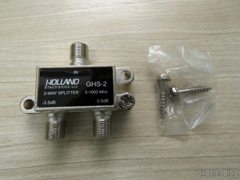 Holland-2 GHS splitter and the accompanying screws