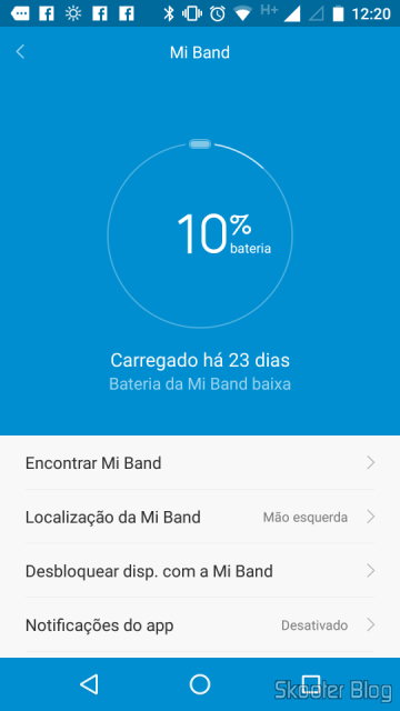 MI Band 1S, with 10% After the load 23 days of continuous use