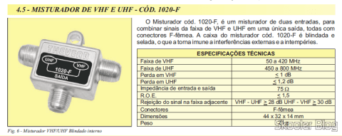 Signal Mixer specifications UHF VHF Thevear 1020-F