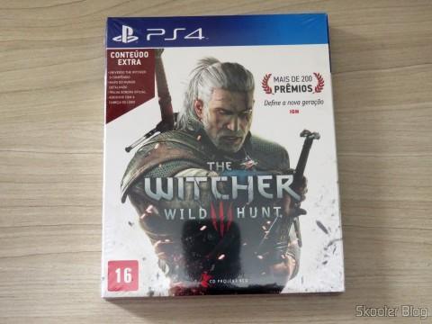 The Witcher 3: Wild Hunt (Playstation 4), em sua embalagem