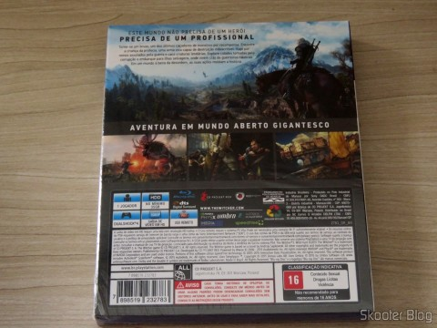 The Witcher 3: Wild Hunt (Playstation 4), on its packaging
