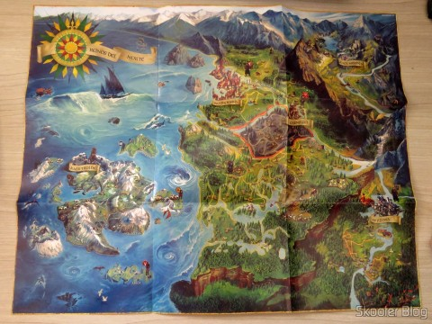 Map of the world of The Witcher 3: Wild Hunt (Playstation 4)