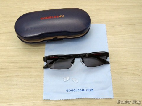Sunglasses with Degree - G4u 2104 with lenses 1.57 CR39, Microfiber fabric and box of Goggles4U
