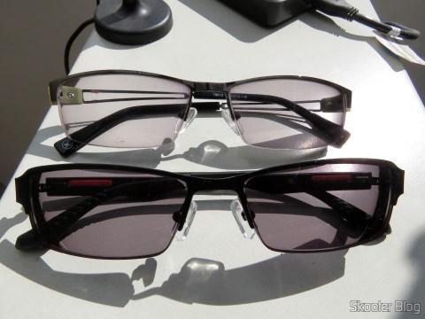 Óculos de Sol com Grau - G4U 2104 com lentes 1.57 CR39 e Óculos G4U 79012 com Lentes 1.56 Fotocromáticas Cinza