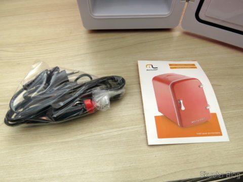 TV007 Retro Portable Mini Refrigerator Cables and Manual