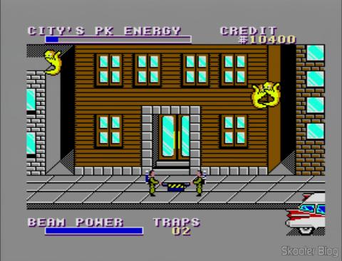 Capturando fantasmas no Ghostbusters - Master System